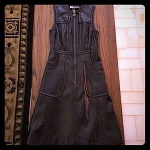 Black Tracy Reese Leather dress